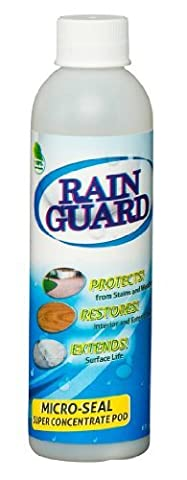 Rainguard Micro-seal ECO-POD CONCENTRATE Makes 1 Gal Clear Penetrating Silane Siloxane Professional Grade Water Repellent Sealer - Concrete, CMU, Block, Brick, Stucco, Stone, Wood for Horizontal/Vertical 10 Yr Warranty by Rainguard International