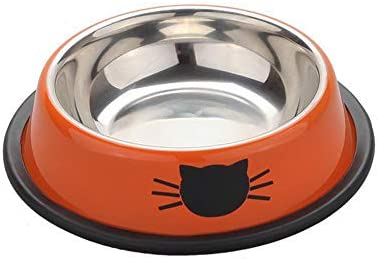 Daeou Ciotola del cane,Vasca di acciaio acciaio acciaio inox vernice gatto ciotola gatto cibo alimentazione alimento per animali domestici | riduzione del prezzo  | Colore molto buono  6ffdea