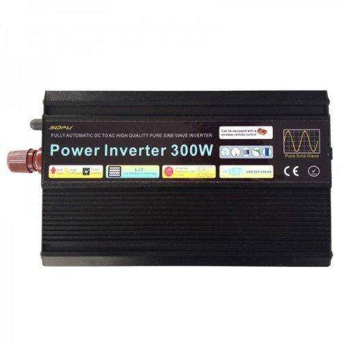 Convertisseur de tension 12V vers 220V - puissance 300W - signal pur sinus_EXPEDIE DEPUIS LA FRANCE