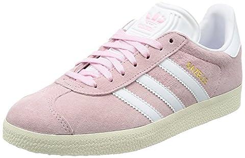 Adidas Gazelle, Baskets Basses Femme, Rose (Wonder Pink/Footwear White/Gold Metallic), 37 1/3 EU