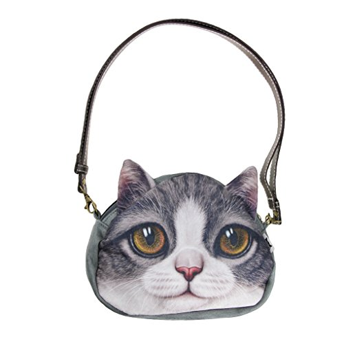 Liying Neu Umhängetasche Handtascher Schultasche Trage Tasche Reisetasche Katze Klein (Scout Burton)