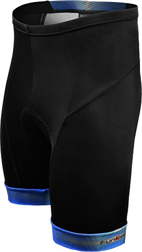 Funkier Men's Panel Padded Cycling Shorts
