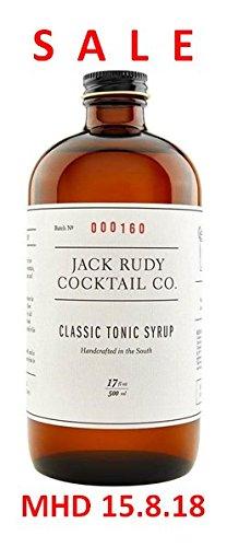 Jack Rudy Classic Tonic Sirup - (500 ml für 25-30 Gin&Tonic)
