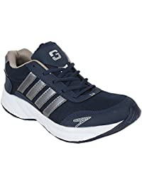 Granite Men's Navy Blue / Grey Color Synthetic Leather Sports Shoe. ( Multi Purpose Shoes:- Running Shoes| Gym...