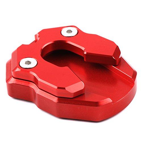 Homyl Motorrad Fahrrad Seitenständer Rot und Schwarz Stützplatte Seitenständer Fuß Werkzeug für draußen parken Motorrad