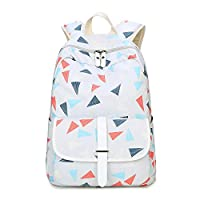 Backpack Fashion Casual Backpack Female Polyester Backpack Korean Version of The Middle School Student Bag Computer Bag Light Gray