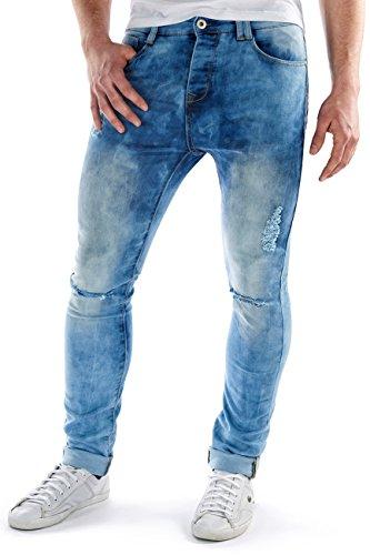 Sublevel -  Pantaloni  - Uomo blu W34/L34