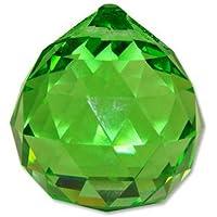 Sonline Pallino di cristallo verde 40mm - Ornamento Suncatcher