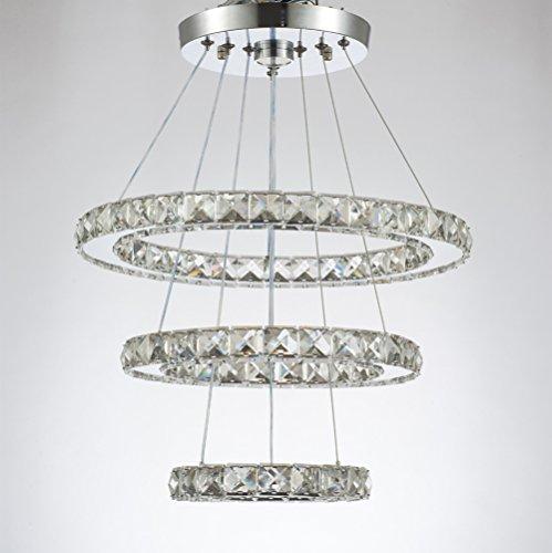 Ellittica in Acciaio Inox LED cristallo moderno lampadario lampada a ...