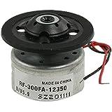 RF-300FA-12350 Motor de eje principal - TOOGOO(R) RF-300FA-12350 DC 5.9V Motor de eje principal para DVD CD Reproductor Plata + Negro