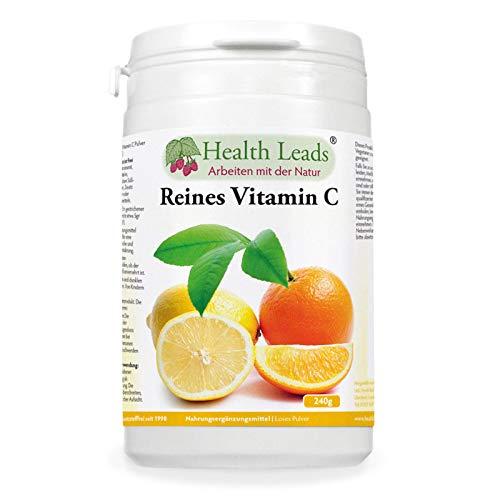 Reines Vitamin C (Ascorbinsäure) 240gr - Trägt zur normalen Funktion des Immunsystems bei - Gesündere Haut und Zähne - Perfekt für leckere Shakes und Smoothies - Vegan, GVO-frei, glutenfrei (Was Ist Die Bedeutung Der Produktion)