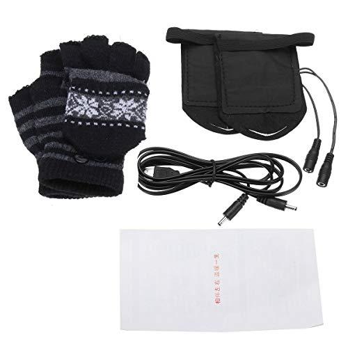 JenNiFer Elektrisch Beheizte Handschuhe Warmen USB Angetriebene Heizung Motorrad Ski - Schwarz (Angetrieben Motorrad Handschuhe Batterie)