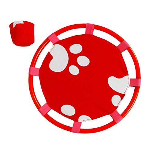 Toyvian Catch Ball Paddle Game Set Jeu de Ventouse Balle Sucker Interaction Parent-Enfant (Empreinte de Pied Rouge)