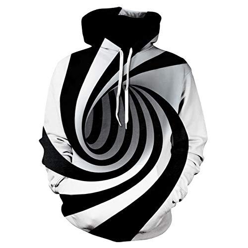Hypnose Vortex Hoodies Sweatshirt Männer Frauen Plus Size 3D Hoodie Whirlpool Drucken Lustige Hip Hop Trainingsanzug Streetwear-XXXL
