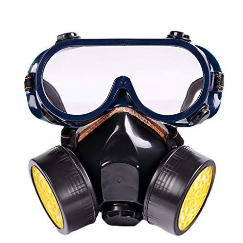 babysbreath17 Aktivkohlestaubmaske Respirator Set Anti-Staub-Anti-Fog Schutzmaske Brille Anzug