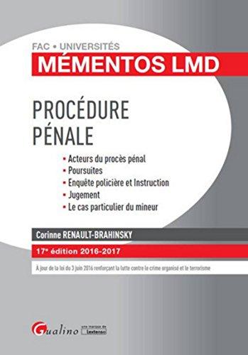 Mémentos LMD - Procédure pénale 2016-2017