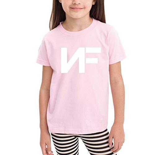 Kinder Jungen Mädchen Shirts NF Rapper T Shirt Kurzarm T-Shirt Für Tollder Jungen Mädchen Baumwolle Sommer Kleidung Rosa 2 T -