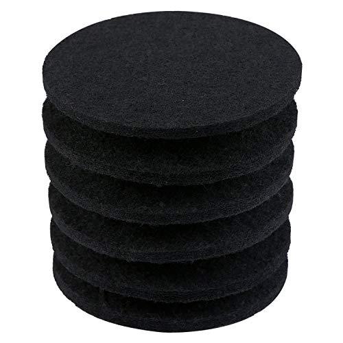 resinta 6Pack Haarverdichtung Komposter Filter Aktivkohle Filter für Kitchen Komposteimer Filter Ersatz, 10mm Stärke 6.25 inch 6.25