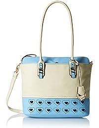 Gussaci Italy Women's Handbag (Beige) (GUS034)