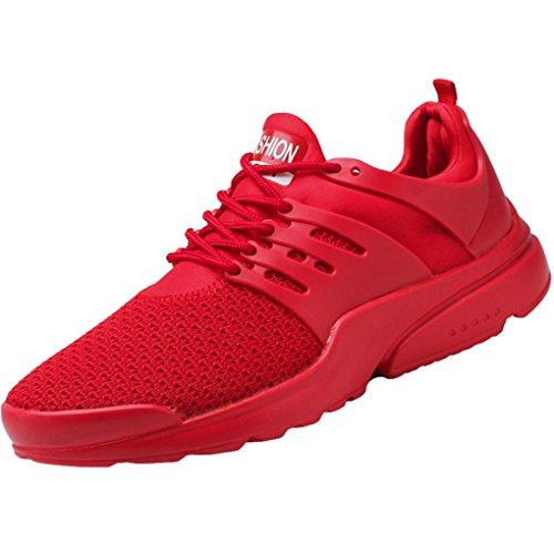 Mesh Atmungsaktive Laufschuhe Herren,❤️Absolute Männer Gewebte Sportschuhe Mode Sneaker Lace-Up Freizeitschuhe 2018 Sommer Neue Gym Skate Turnschuhe (EU:44/CN:46, - Nike Rot Skate-schuhe