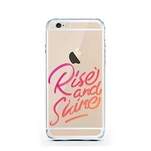 iPhone 7 Hülle von licaso® für das Apple iPhone 7 aus TPU Silikon Harry Potter Hogwarts Zauberer Magic Hermine Ron Muster ultra-dünn schützt Dein iPhone 7 & ist stylisch Schutzhülle Bumper in einem (i Rise and Shine