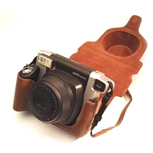 Tasche für Fujifilm Instax Wide 300 SofortbildKamera mit Schultergurt, Hellohelio klassisch Kunstleder Limitierte Auflage hülle - Braun