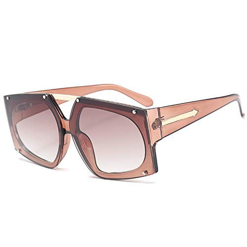 Wghz Übergroße quadratische Sonnenbrille-Frauen-Art- und Weiserosa-Objektiv-Sonnenbrille für Frauen-Marken-Luxusschwarz-Grün-Rot-Farbtöne UV400