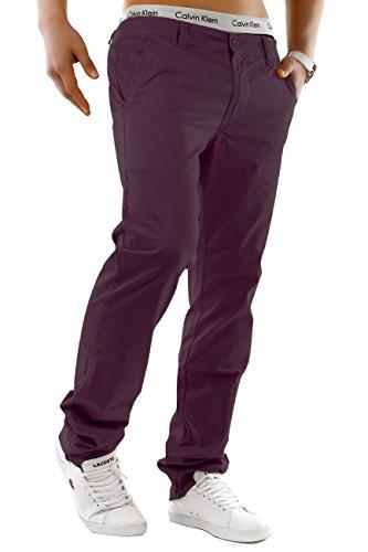 Uomo chinos   Taglio regolare fit · leggeri pantaloni estivi · Chino Jeans · misto cotone-spandex · Straight Leg · Ampia gamma di colori   H1245 in qualità di marca Porpora