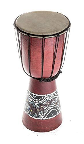 DJEMBE DRUM 20cm Height Wooden Professional Bongo Fair Trade