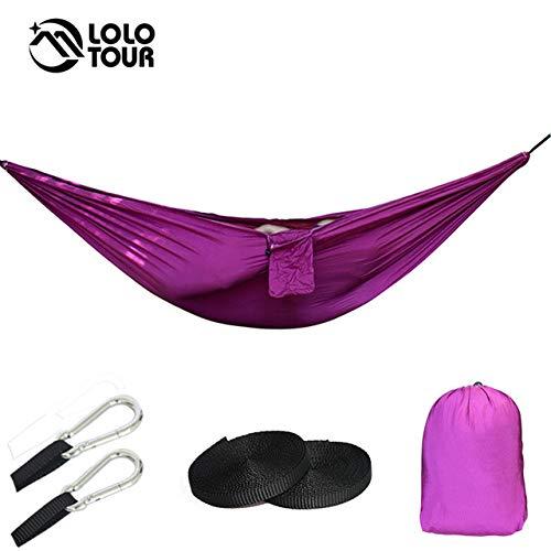Shoppy étoile Double Hamac Camping Survie Hamac Parachute Chiffon Portable Swing Lit de Couchage pour 2 Personnes Camping Voyage Meubles, Chine