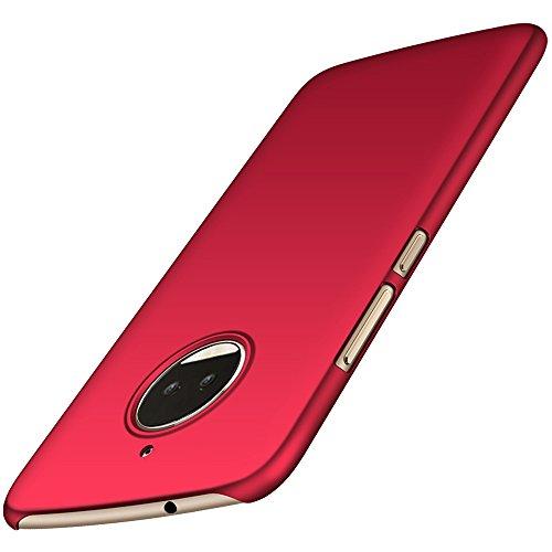 Moto G5S Plus Hülle, Anccer [Serie Matte] Elastische Schockabsorption und Ultra Thin Design für Moto G5S Plus Motorola Moto G5 Plus Hülle, Anccer [Serie Matte] Elastische Schockabsorption und Ultra Thin Design für Moto G5S Plus (Nicht für Moto G5 Plus)-Rosso liscio