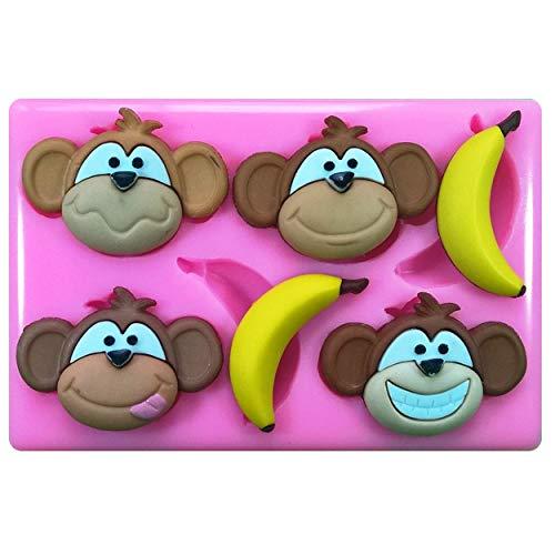 ikonform für Kuchendekoration, Kuchen und Cupcakes, mit Bananenmotiv ()