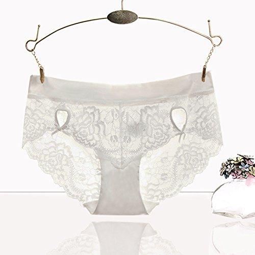 RRRRZ*Sexy Transparenter Spitzenstoff non-marking Unterwäsche weiblichen flaches und Hose mit einer Farbe, Unterwäsche 3 Ecke Hose ,S, (Size Kostüme Plus Toten Uk Der Tag)