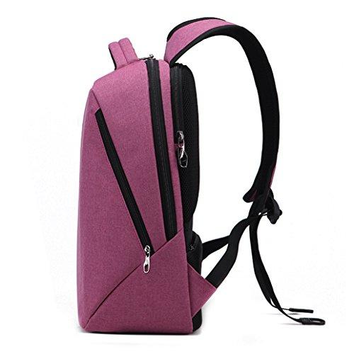 Slotra Business Moderner Laptop Rucksack 15 6-17 Zoll für Herren und Damen, Schule Rucksack Travel Backpack Daypack 47x30x18cm,Schwarz rosa