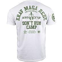 Krav Maga Camiseta Pulgares hacia abajo. Don't Run campamento. Israel Sistema De Autodefensa y Combate Habilidades MMA Camiseta
