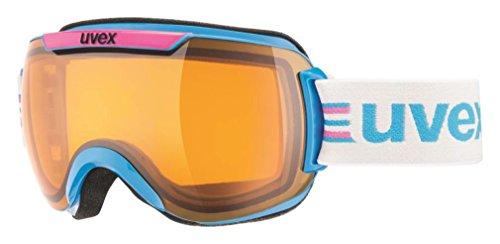 UVEX, Maschera da sci Downhill 2000 Race, Multicolore (Cyan/Pink), Taglia unica