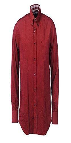 Delsiena cordino rosso cotone camicia a maniche lunghe