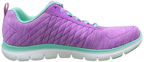 Skechers Flex Appeal 2, Baskets Basses Femme Rose (Praq)