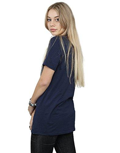 Absolute Cult Marvel Femme Black Panther Wild Silhouette Petit Ami Fit T-Shirt Bleu Marin