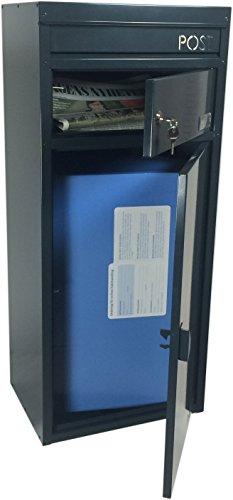 Ein kleinerer Paketbriefkasten der einmalig befüllt werden kann