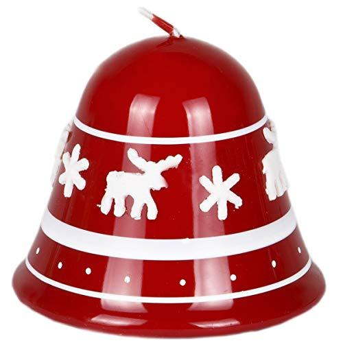 Vela Navidad campana 70mm de diámetro 85mm Navidad Reno Color Rojo lacado