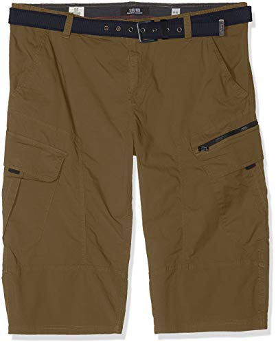 Plus Size Elasthan Shorts (s.Oliver Big Size Herren 15.903.74.3660 Shorts, Grün (Stained Oak 7730), W(Herstellergröße: 38))