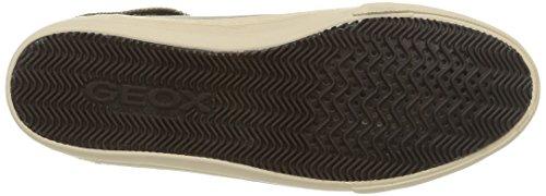 Geox D New Club D, Damen Hohe Sneakers Grau (c1018/capra)
