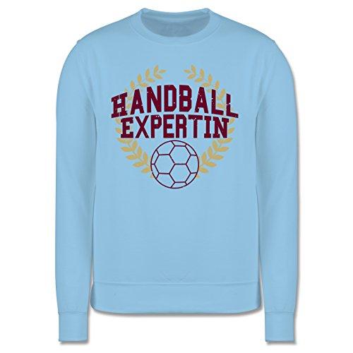 Handball - Handballexpertin - Herren Premium Pullover Hellblau
