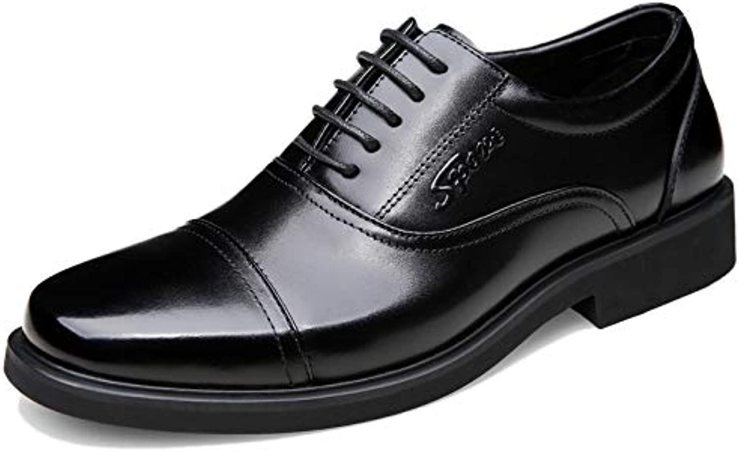 YongBe Uomo Business Formale Scarpe Stringate in Pelle Nera Oxford Smart Office Work Derby Uomini Wedding Party... | Ogni articolo descritto è disponibile