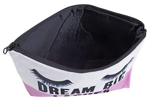 Kukubird Divertimento Nuovo Animale Foto Modello Stampa Make-up Bag Con Sacchetto Di Polvere Di Kukubird Dream Big Lashes