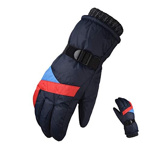 WXHXSRJ Guanti da Sci Invernali Termici Impermeabili - Touchscreen/Antivento - Freddo Antiscivolo Caldo per Ciclismo Guida Corsa Campeggio Escursionismo,Blu