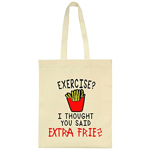 excercise-i-thought-you-said-extra-fries-design-canvas-tote-bag