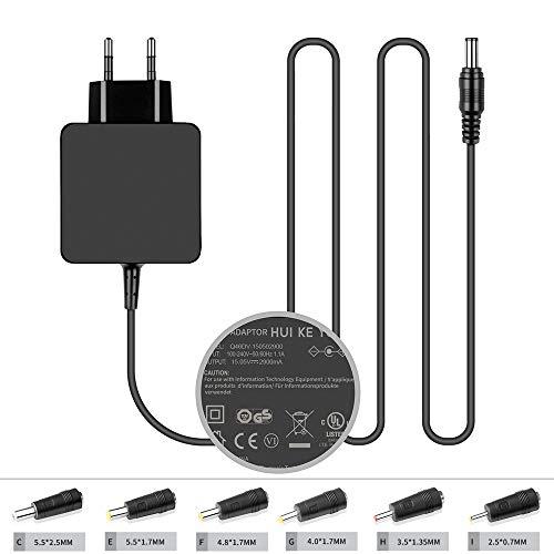 TUV Zertifiziert HKY 15 V 2,9 A Ladegerät Netzadapter mit 6 Bits (2,5 x 0,7 mm / 3,5 x 1,35 mm / 4,0 x 1,7 mm / 4,8 x 1,7 mm / 5,5 x 2,5 mm / 5,5 x 1,7 mm) für Cisco DPC2308,EPC3212,EPC3208G