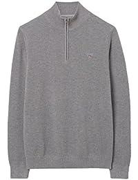 Gant Half Zip Premium Cotton Lightweight Grey Sweatshirt